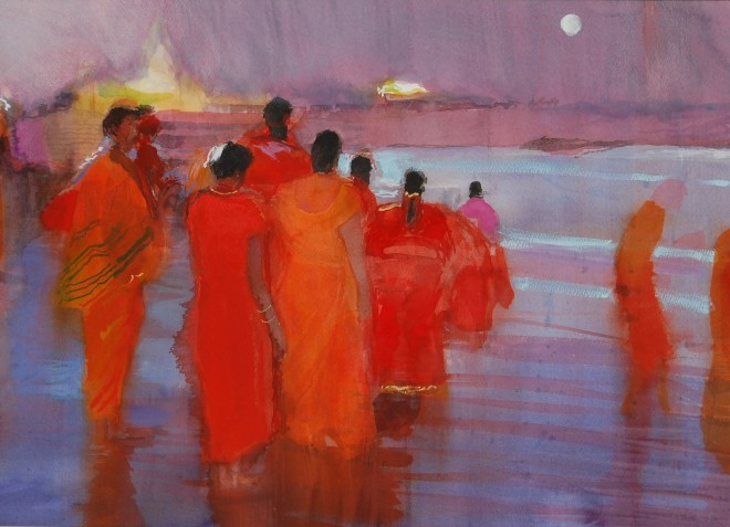Simon Pierse, Moonrise, Mamallapuram Beach