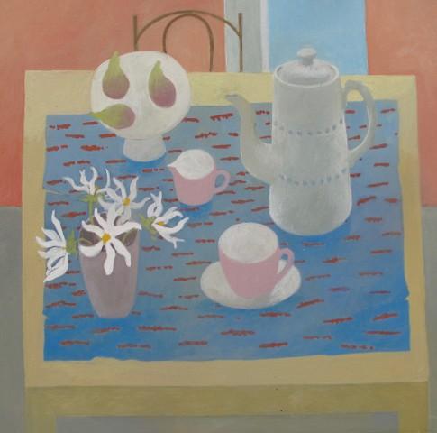 Wendy Jacob, Coffee Pot and White Dahlias