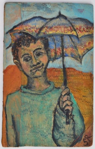 Sula Rubens, Child with Umbrella