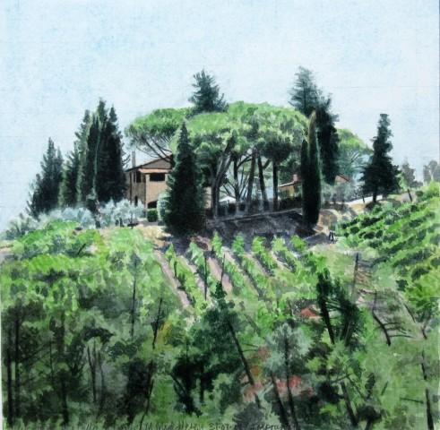 Mike Middleton, View from Villa la Dame, Impruneta