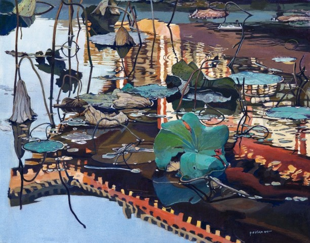 David Paskett, Reflections in a Lotus Pond