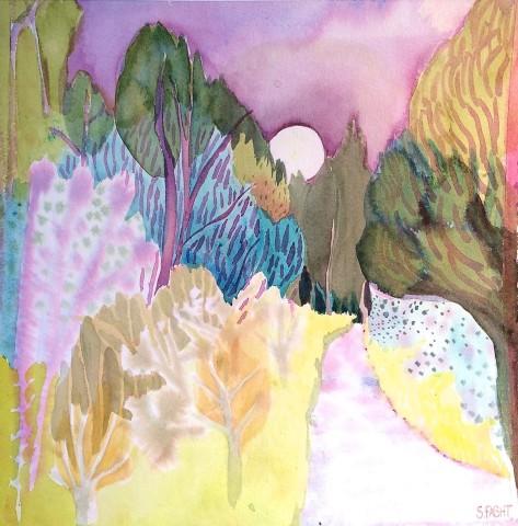 Suzy Fasht, Path Through a Wood