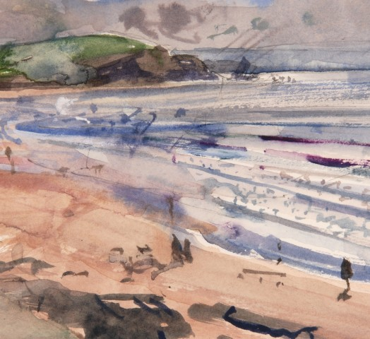 Richard Pikesley, Bigbury Bay, Summer Evening