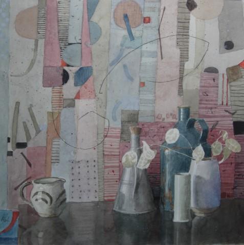 Annie Williams, Still Life with a David Leach Pot