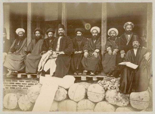 Antoin Sevruguin, Silk merchants in the Rasht Bazaar, Late 19th Century