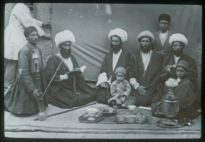 Not known, Mujtahid with Mulla taking tea from samovar, Late 19th Century