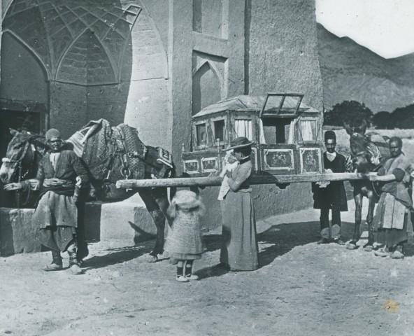 Rev. C.H. Stileman, A donkey and sedan carriage, Takht-e Ravan, Late 19th Century