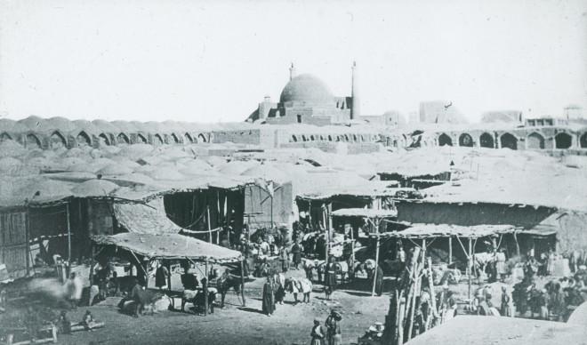 Ernest Hoeltzer, A bazaar in Isfahan, Late 19th Century
