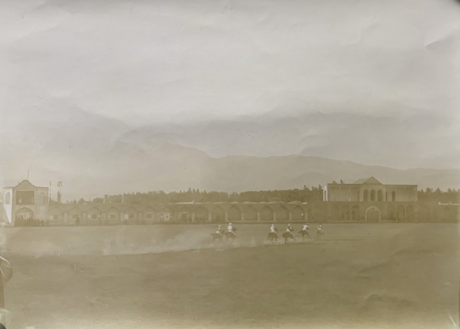 Antoin Sevruguin, A polo game in Tehran on occasion of the Queen of England's birthday, Early 20th Century