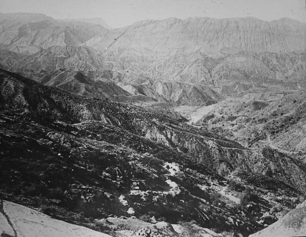 Antoin Sevruguin, The Zagros mountains in Shiraz, Late 19th or early 20th Century