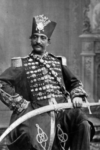 Pierre Eugene Thiebault, Naser al-Din Shah Qajar, 1873