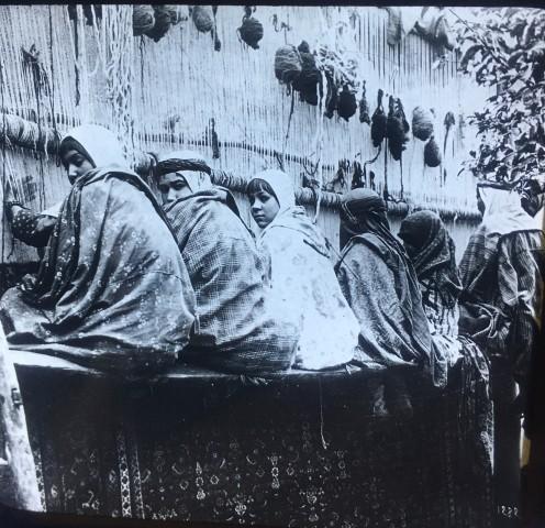 Antoin Sevruguin, Carpet weaving in Sultanabad (Arak), Late 19th Century