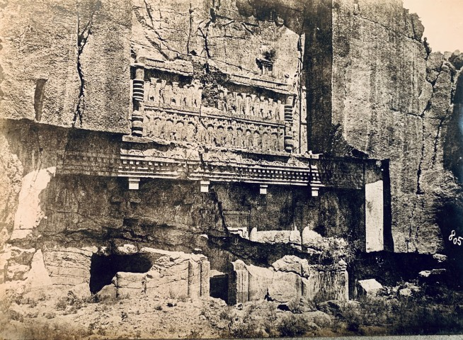Antoin Sevruguin, Tomb of Artaxerxes II Mnemon, Persepolis, Late 19th Century or early 20th Century