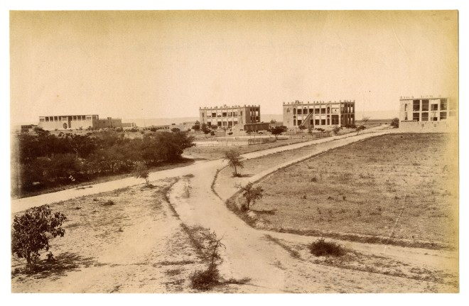 Antoin Sevruguin, Buildings belonging to the Indo-European Telegraph Co., Port of Bushehr, Late 19th Century
