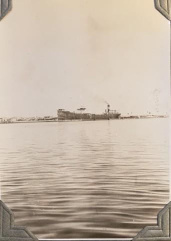 John Drinkwater, An oil tanker in the Persian Gulf, 1934