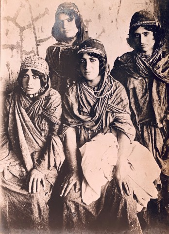 Antoin Sevruguin, A group of Kurdish girls, Late 19th Century or early 20th Century