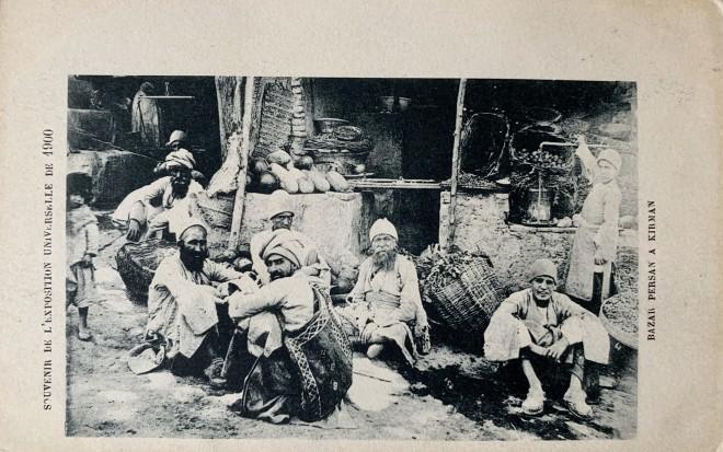 Antoin Sevruguin, A fruit seller's stall in Kerman, Late 19th Century