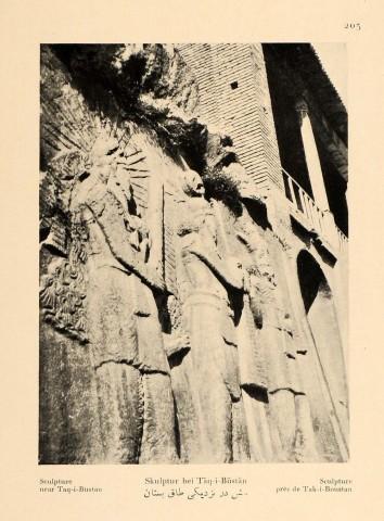 Antoin Sevruguin, Sculpture near Taq-i-Bustan, 1926