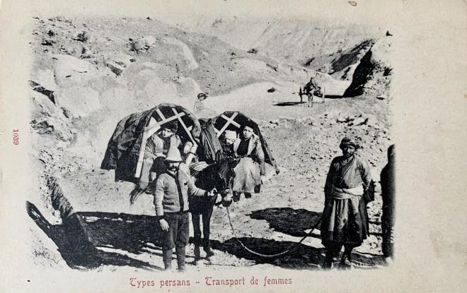 Dmitri Ivanovich Ermakov, Mullah-Ali. Kedjeve two baskets mounted on horses for transport of women, Late 19th Century