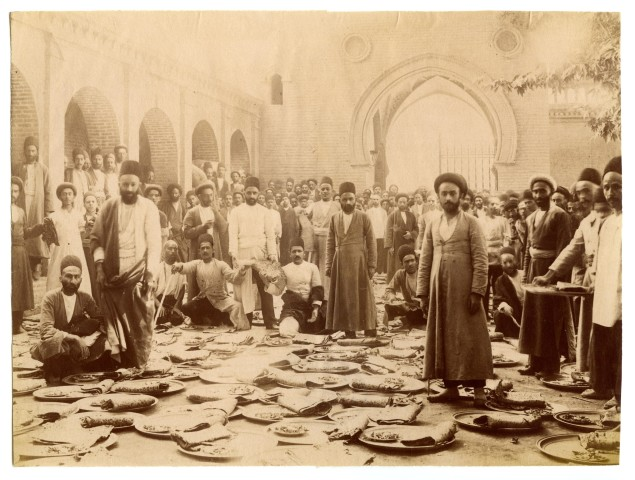 Antoin Sevruguin, A group of butchers at the British embassy, Early 20th Century