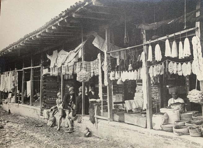 Antoin Sevruguin, A bazaar in Rasht, Late 19th Century or early 20th Century