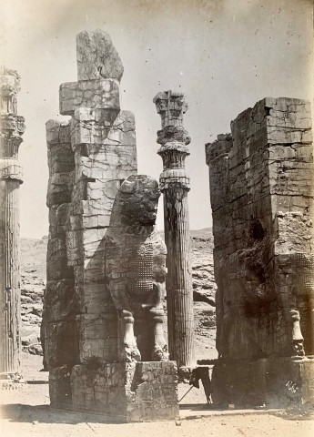 Antoin Sevruguin, Gate of All Lands, Colossal Sculptures Depicting Heads of a Bull, Persepolis, Late 19th Century or early 20th Century