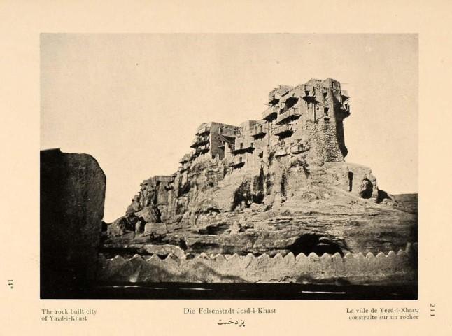 Antoin Sevruguin, The rock built city of Yazd-i-Khast, 1926