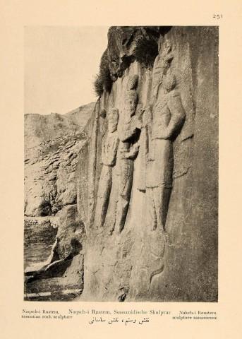 Antoin Sevruguin, Naqsch-i Rustem, sassanian rock sculpture, 1926