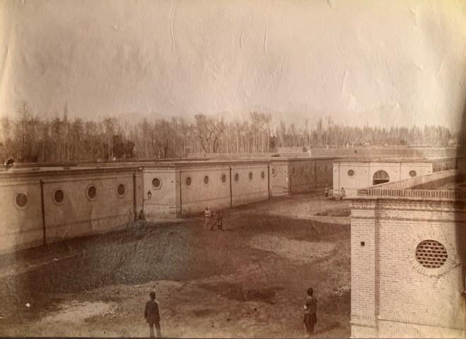 Antoin Sevruguin, Terminal buildings for the Tehran to the shrine of Abdul Aziz, Rey railway, Tehran, Late 19th Century