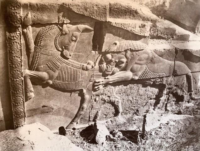 Adolphe Braun, Apadana, North Side, Central Facade of Ceremonial Stairway, Persepolis, Late 19th Century