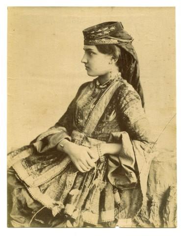 Antoin Sevruguin, An Armenian girl from New Julfa, Isfahan, Late 19th Century