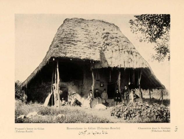 Antoin Sevruguin, Peasant's house in Gilan (Tehran-Rasht), 1926