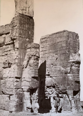 Adolphe Braun, Gate of All Lands, Colossal Sculptures Depicting Heads of a Bull, Persepolis, Late 19th Century