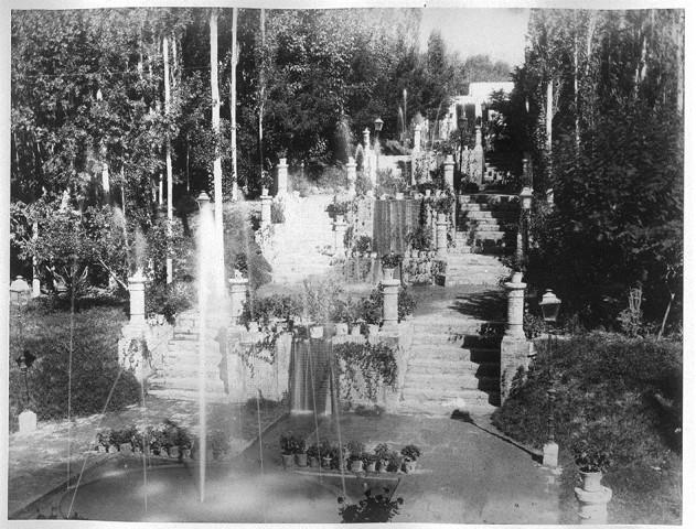 Antoin Sevruguin, Khamrameh Palace Garden, Shemiran, Late 19th Century
