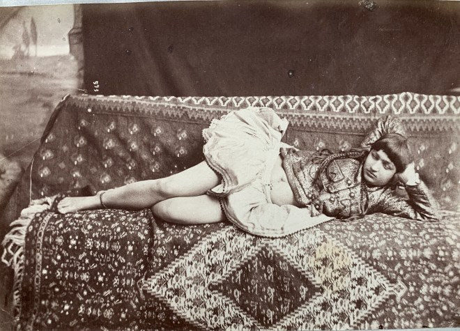 Antoin Sevruguin, A reclining woman, Late 19th Century or early 2oth Century
