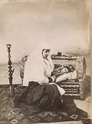 Antoin Sevruguin, A woman rocking her child's cradle, Late 19th Century or late 20th Century