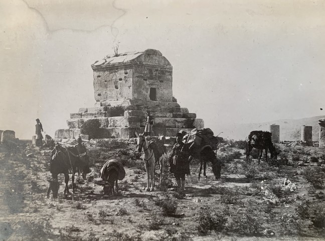 Antoin Sevruguin, Mausoleum of Cyrus the Great, Pasargadae, Late 19th Century or early 20th Century
