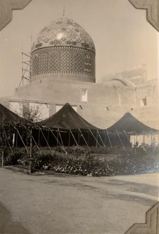 John Drinkwater, Imāmzādeh Maḥroq mosque and tomb of Omar Khayyam in Neyshābūr, 1934