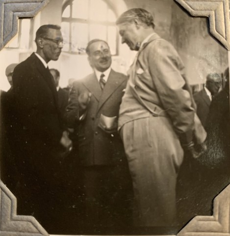 John Drinkwater, Mohammad-Taqi Bahar with the Persian Minister of Education and John Drinkwater, 1934