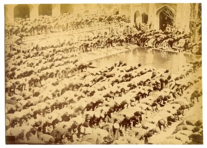 Antoin Sevruguin, Public prayer for rain, Late 19th Century