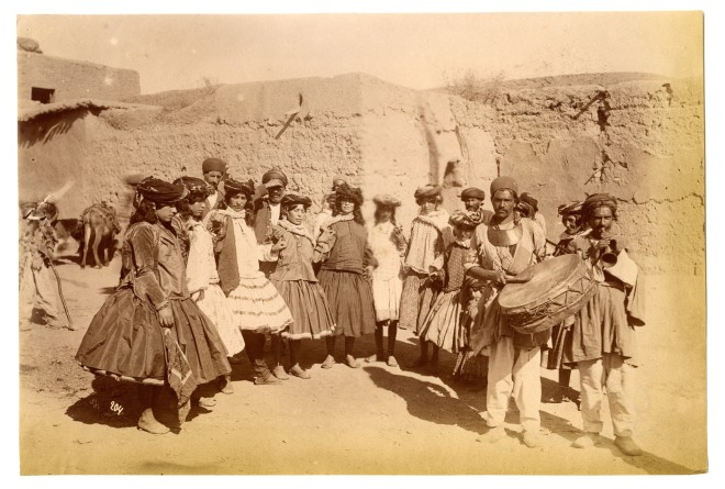 Antoin Sevruguin, Kurdish musicians and dancers, Late 19th Century