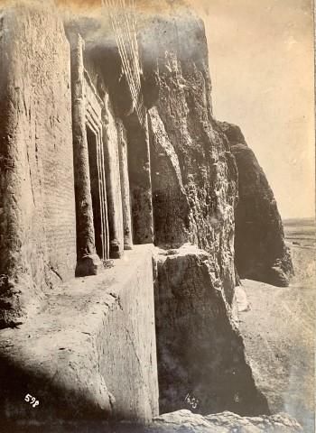Antoin Sevruguin, Achaemenid Tomb of Darius I and Xerxes, Naqsh-i Rustam, Late 19th Century or early 20th Century