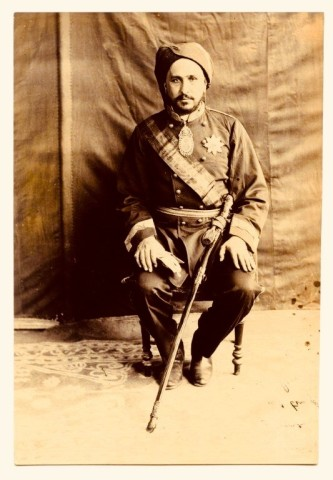 Not known, Shaikh Khaz'al bin Jabir bin Mirdaw al-Ka 'bi wearing a miliary uniform, Late 19th Century
