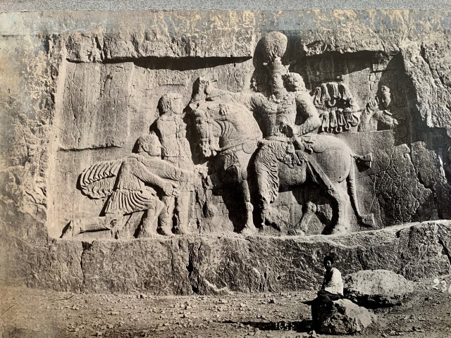 Antoin Sevruguin, Sasanian relief of Shapur I and his triumph over Emperor Valerian, Late 19th Century or early 20th Century