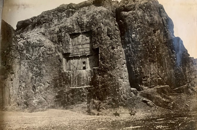 Antoin Sevruguin, Achaemenid Tomb of Xerxes, Naqsh-i Rustam, Late 19th Century or early 20th Century