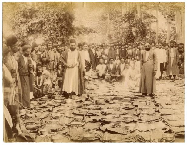 Antoin Sevruguin, Haji Mohammad Taqi Bonakdar, preparing food for strangers at the British embassy, Early 20th Century