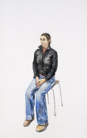 Woman on a Stool, 2012