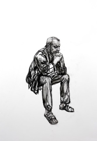 Seated Man 1, 2016