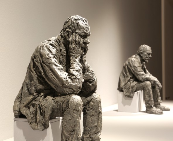 Seated Man Maquette 2 (from a set of 3)