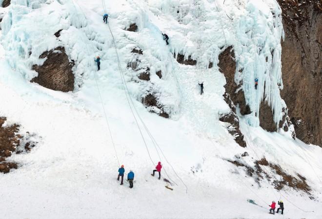 Scott Conarroe, Ice Climbing 2, Enstligenalp, 2020